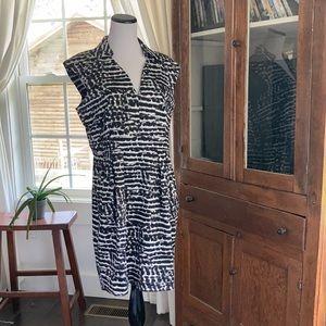 Calvin Klein Black & White Print Sheath Dress, 14